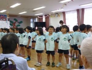 歌を歌ったり、ふれあい遊びをして楽しく過ごしてきました。